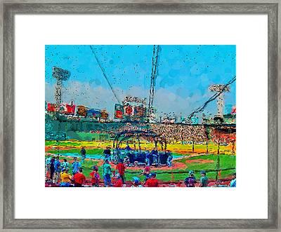 Batting Cage Fenway Framed Print by John Farr