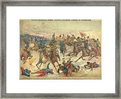 Battle At Liao-yang Framed Print by British Library