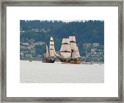 Framed Print featuring the photograph Battle At Sea by Mary M Collins