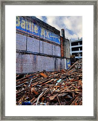 Battle Ax Framed Print by Michelle Calkins
