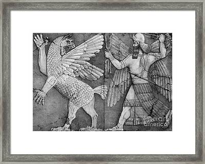 Battle Between Marduk And Zu Framed Print by Photo Researchers
