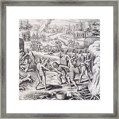 Battle Between Tuppin Tribes Framed Print