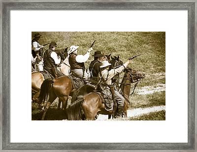 Battle Charge Framed Print by Steven Bateson