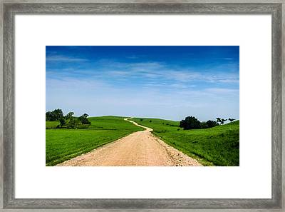 Battle Creek Road From The Saddle Framed Print