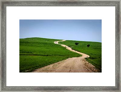 Battle Creek Road Teamwork Framed Print