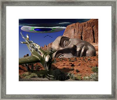 Battle For The Ancient Face Framed Print by Keith Dillon