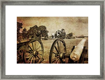 Battle Line At Antietam Framed Print