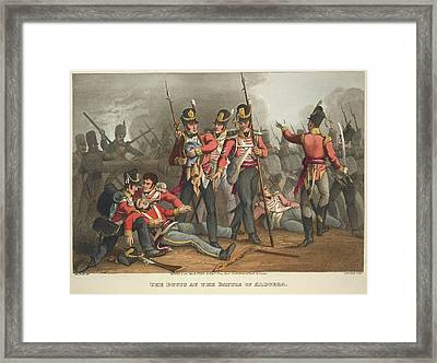 Battle Of Albuera Framed Print by British Library