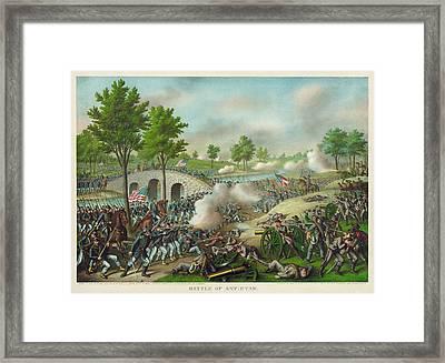 Battle Of Antietam 1862 Framed Print by Celestial Images