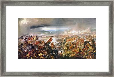 Battle Of Avay Framed Print by Pedro Americo