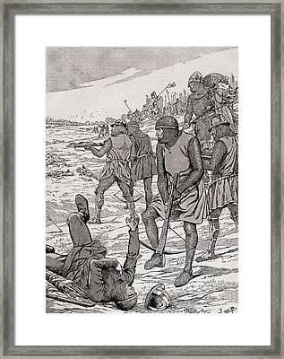 Battle Of Bouvines, 1214.  From Agenda Buvard Du Bon Marche Published 1917 Framed Print