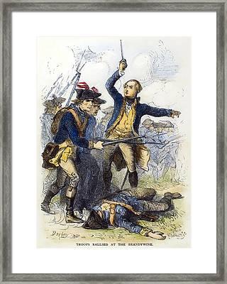Battle Of Brandywine, 1777 Framed Print by Granger