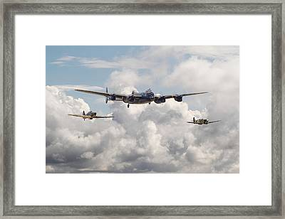 Battle Of Britain - Memorial Flight Framed Print