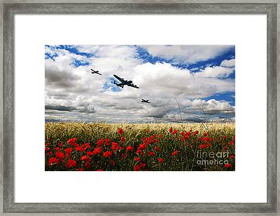 Battle Of Britain Memorial Tribute  Framed Print