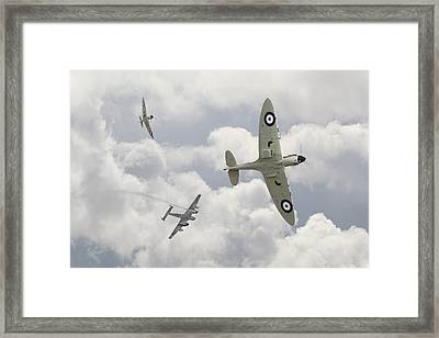 Battle Of Britain - 'one Down' Framed Print