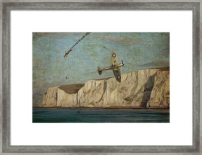 Framed Print featuring the painting Battle Of Britain Over Dover by Nop Briex