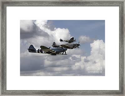 Battle Of Britain Spitfires Framed Print by J Biggadike