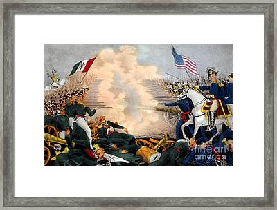 Battle Of Buena Vista Mexican-american Framed Print by Photo Researchers