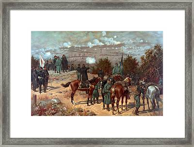 Battle Of Chattanooga Framed Print by American School