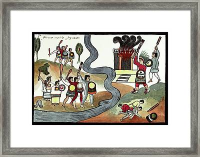 Battle Of Coyoacan Framed Print by Library Of Congress