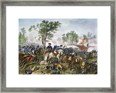 Battle Of Eutaw Springs Framed Print by Granger