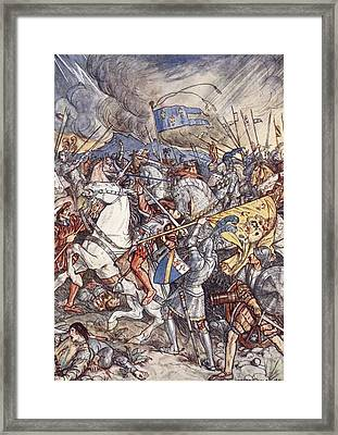 Battle Of Fornovo, Illustration Framed Print by Herbert Cole