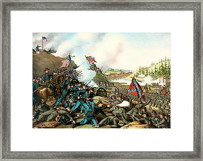 Battle Of Franklin Tennessee 1864 Framed Print by Mountain Dreams