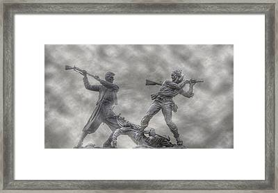 Battle Of Gettysburg 150 Blue And The Gray Framed Print by Randy Steele