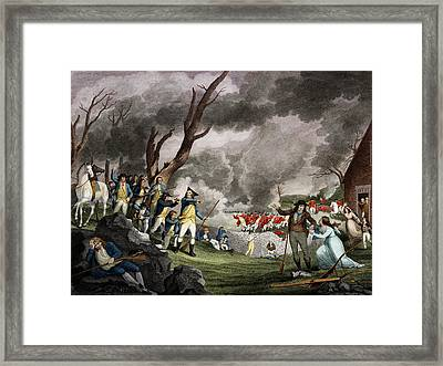 Battle Of Lexington, 1775 Framed Print by Science Source