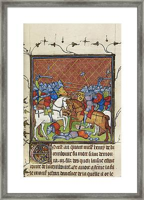 Battle Of Luxemburg Framed Print by British Library
