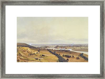 Battle Of Montereau, 18th February 1814, 1840 Wc On Paper Framed Print by Jean Antoine Simeon Fort