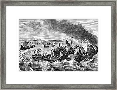 Battle Of Morbihan, 56 Bc Framed Print