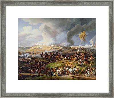 Battle Of Moscow Framed Print by Louis Lejeune