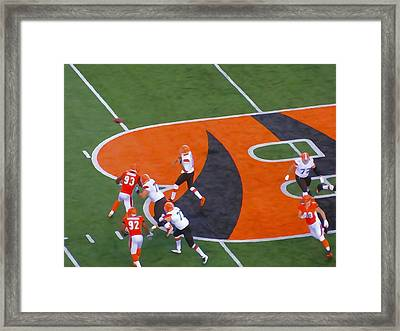 Battle Of Ohio Watercolor Framed Print by Dan Sproul
