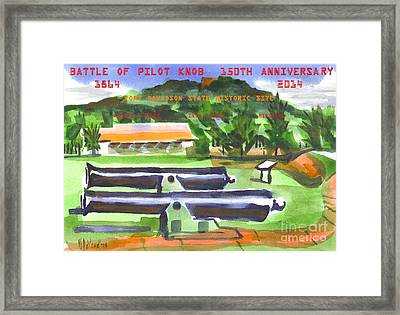 Battle Of Pilot Knob Framed Print
