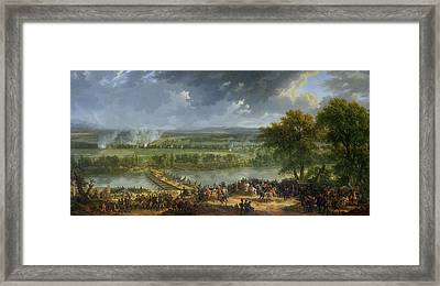 Battle Of Pont Darcole, 15th-17th November 1796, 1803 Oil On Canvas Also See 174337 Framed Print by Baron Louis Albert Bacler d'Albe