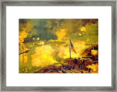 Battle Of Port Hudson Framed Print by Vintage Image Collection