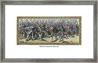 Battle Of Saint Gotthard Framed Print by Granger