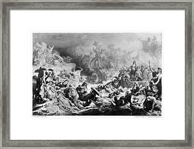 Battle Of Salamis, 480 B Framed Print