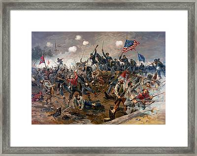 Battle Of Spottsylvania Framed Print