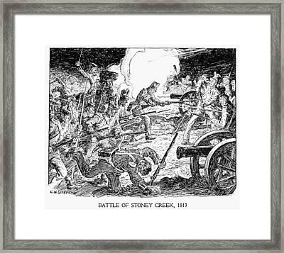 Battle Of Stoney Creek Framed Print by Granger
