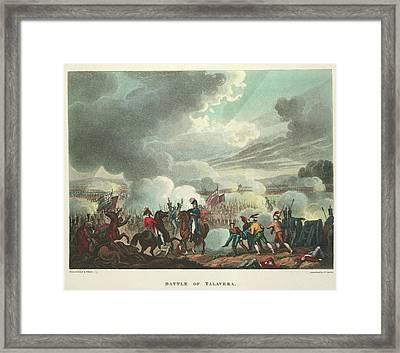 Battle Of Talavera Framed Print