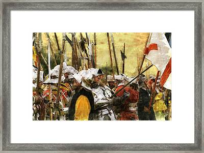 Battle Of Tewkesbury Framed Print