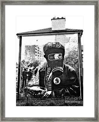 Battle Of The Bogside Mural Framed Print by Nina Ficur Feenan