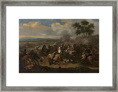 Battle Of The Boyne, 12 July 1690 Between Kings James II Framed Print by Litz Collection