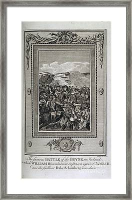 Battle Of The Boyne Framed Print by British Library