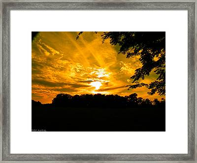 Battle Of The Clouds Framed Print by Nick Kirby