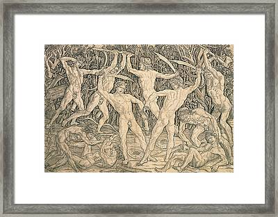 Battle Of The Nudes Framed Print