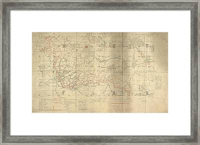 Battle Of The Somme Trench Map Framed Print by British Library