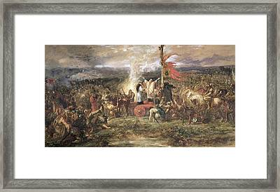 Battle Of The Standard, Northallerton, 22nd August 1138, 1880 Wc On Paper Framed Print by Sir John Gilbert